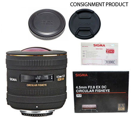 ::: USED ::: Sigma For Nikon 4.5mm F/2.8 EX DC Circular Fisheye (Mint-671) CONSIGNMENT