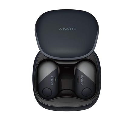 SONY WF-SP700N Wireless Noise-Canceling Headphones for Sports (Black)
