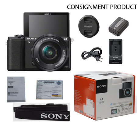 :::USED:::Sony Alpha A5100 kit 16-50 Black (Excellent) Kode 818/060 Consignment