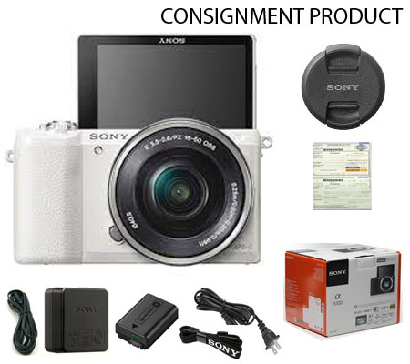 :::USED:::  Sony A5100 Kit 16-50 White (Excellent) Kode 085/759 Consignment