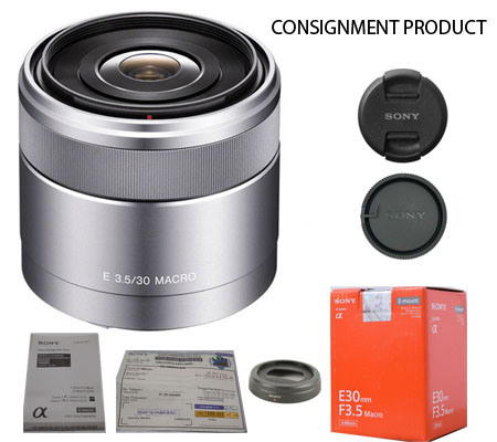 :::USED:::Sony E 30mm f/3.5 Macro (Excellent -748) Consignment Product