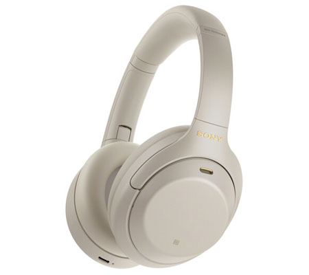 Sony WH-1000XM4 Wireless Noise-Canceling Over-Ear Headphones Silver