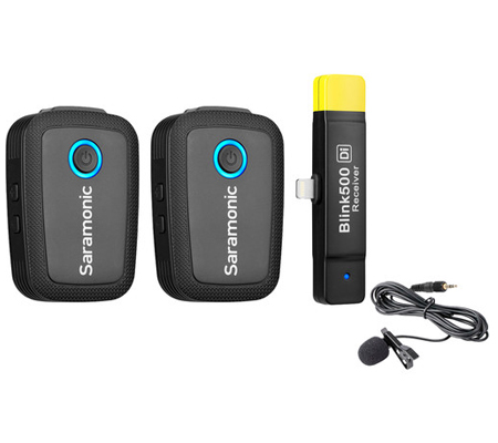 Saramonic Blink 500 B4 TX+TX+RXDi Wireless Lavalier Microphone for Iphone/IOS Device