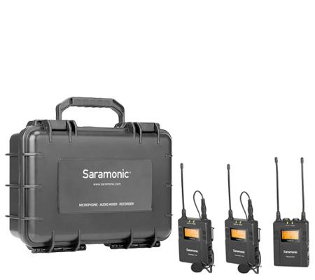 Saramonic UwMic9 Kit2 TX9+TX9+RX9 Camera-Mount Wireless Omni Lavalier Microphone System