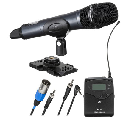 Sennheiser EW 135P G4 Camera-Mount Wireless Cardioid Handheld Microphone System