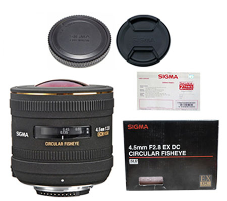 ::: USED ::: Sigma For Nikon 4.5mm F/2.8 EX DC Circular Fisheye (Mint-671)