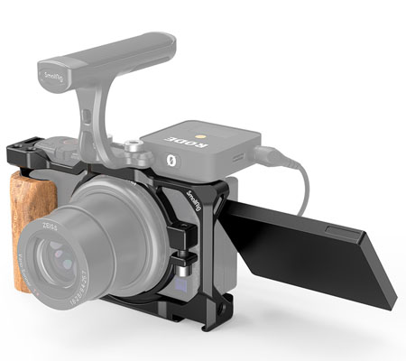 SmallRig Cage with Wooden Handgrip for Sony ZV1 2937