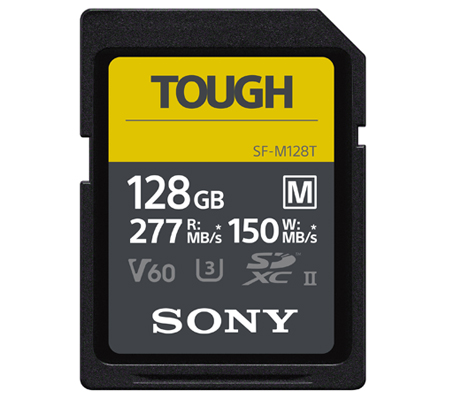 Sony SF-M Tough Series SDXC 128GB Read 277MB/s Write 150MB/s V60, U3, UHS-II