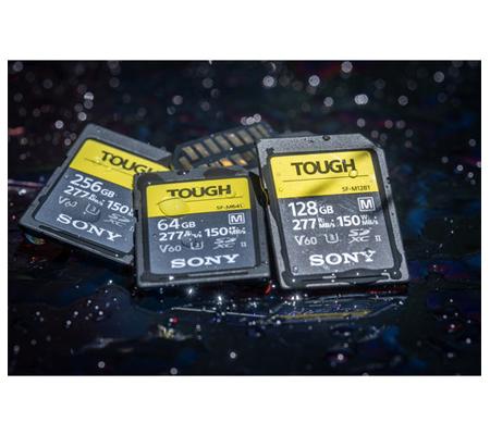 Sony SF-M Tough Series SDXC 64GB Read 277MB/s Write 150MB/s V60, U3, UHS-II