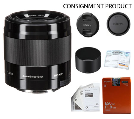 :::USED::: Sony E 50mm f/1.8 OSS (Black) (Mint-556) Consignment