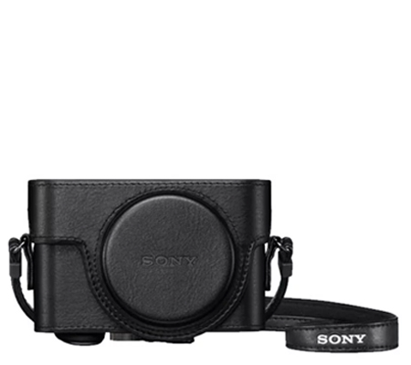 Sony Leather Case LCJ-RXK Jacket Case Half Case For RX100 Series Black