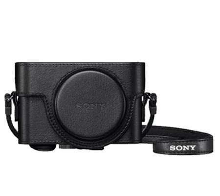 Sony Leather Case LCJ-RXK Jacket Case Half Case For RX100 Series Black