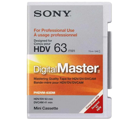 Sony PHDVM63DM DigitalMaster Mini 63 min HDV