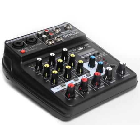 Synco MC4 Mixer 4-Channel Professional Audio Mixer