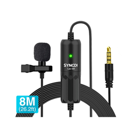 Synco Lav-S8 Omnidirectional Lavalier Microphone for Camera / Smartphone