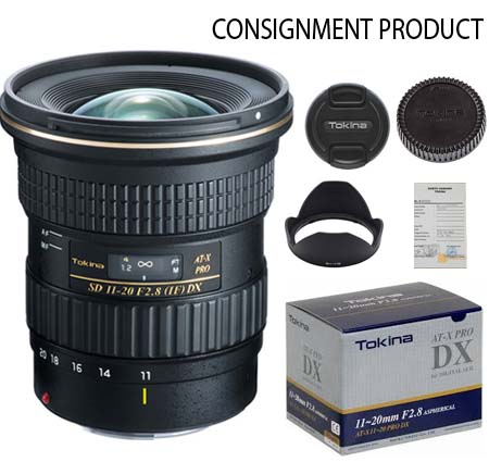 :::USED:::Tokina for Canon AT-X 11-20mm f/2.8 PRO DX (Mint) #580 Consignment