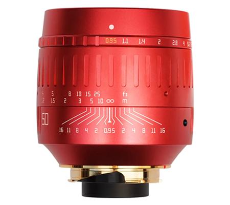 TTArtisan 50mm f/0.95 Lens for Leica M Mount Red
