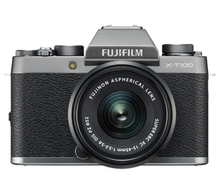 Fujifilm X-T100 kit XC15-45mm f/3.5-5.6 OIS PZ Dark Silver