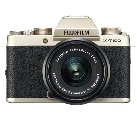 Fujifilm X-T100 kit XC15-45mm f/3.5-5.6 OIS PZ Champagne Gold