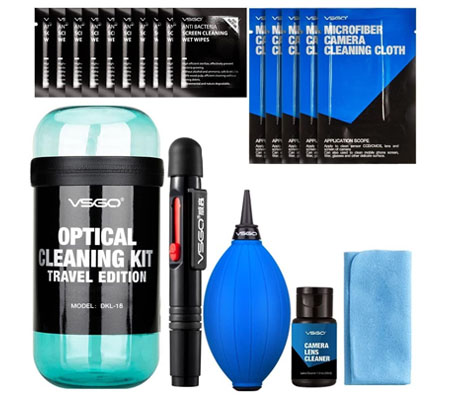 VSGO Camera Cleaning Kit Travel Edition (DKL-15) Blue