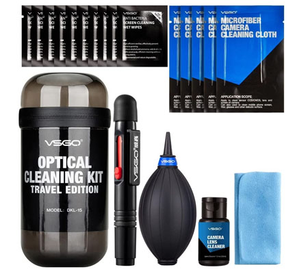 VSGO Camera Cleaning Kit Travel Edition (DKL-15) Grey