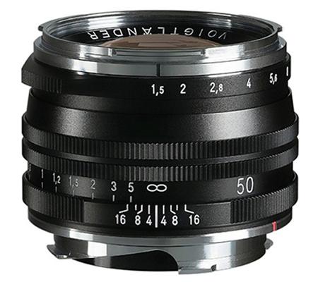 Voigtlander 50mm f/1.5 Aspherical II VM MC Nokton Vintage for Leica M Black
