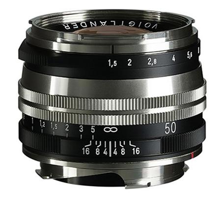 Voigtlander 50mm f/1.5 Aspherical II VM MC Nokton Vintage for Leica M Nickel
