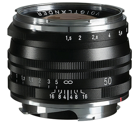 Voigtlander for Leica M Nokton Vintage 50mm f/1.5 Aspherical II VM Black