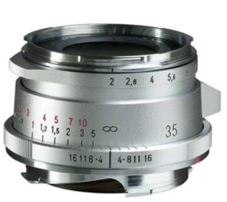 Voigtlander Ultron Vintage Line 35mm f/2 Aspherical Type II VM Lens for Leica M (Silver)