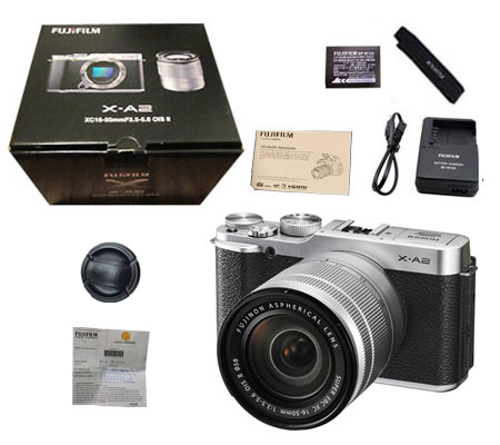 ::: USED ::: Fujifilm X-A2 kit 16-50mm OIS II (Silver) (Excellent-045/442)