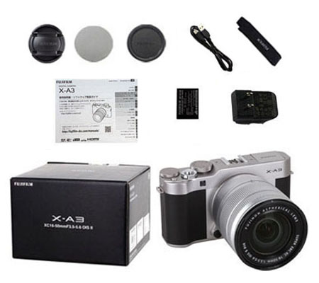 ::: USED ::: Fujifilm X-A3 Kit 16-50mm F/3.5-5.6 OIS (Silver) (Excellent-641/091)