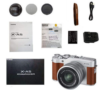 ::: USED ::: Fujifilm X-A5 Kit 15-45mm F/3.5-5.6 OIS (Brown) (Excellent-101/630)