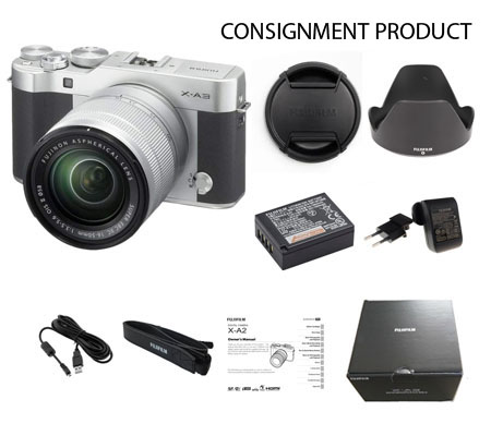 :::USED:::FUJIFILM X-A3 Kit XC 16-50mm f/3.5-5.6 OIS II SILVER Excellent 975/441 Consignment