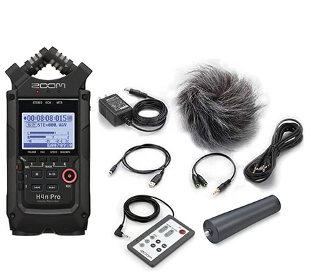 Zoom H4n Pro 4-Track Simultaneous Recording Handy Recorder + APH4N Black
