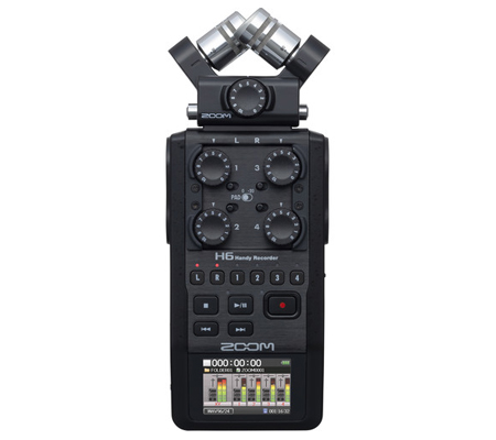 Zoom H6 Black 6-Track Portable Handy Recorder