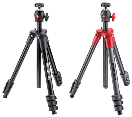 Manfrotto Tripod Compact Light MKCOMPACTLT Red