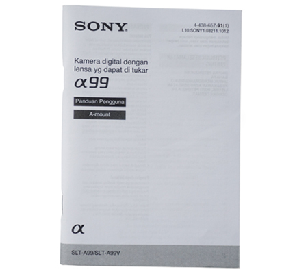 Sony Alpha A99 Manual Book