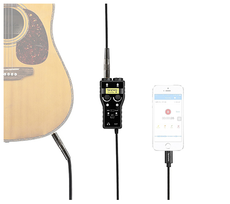 Saramonic SmartRig+ Di Mic and Guitar Interface with Lightning Connector for iOS Devices