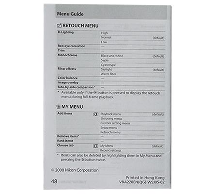 Nikon D700 Manual Book