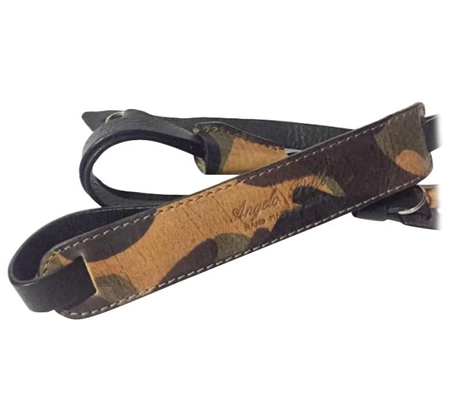 Angelo Pelle Neck Strap Deluxe Edition Camouflage Shoulder Pad/Green Belt