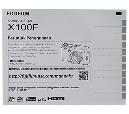 Fujifilm X100F Manual Book