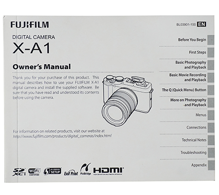 Fujifilm XA1 Manual Book