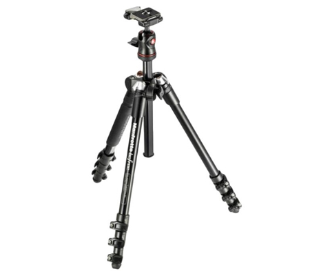 Manfrotto Tripod BeFree Compact Travel Aluminium, Ball Head kit MKBFRA4-BH