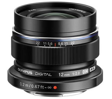 Olympus M.Zuiko Digital ED 12mm f/2 Black