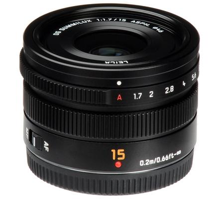 Panasonic Leica DG Summilux 15mm f/1.7 Lumix G ASPH Black
