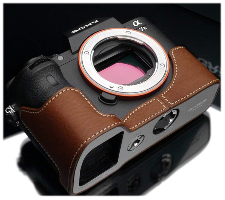 Gariz Leather Case for Sony A7II (XS-CHA7IICM) Camel