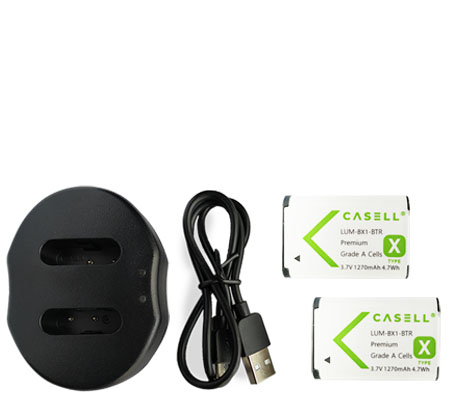 Casell Battery Pack NP-BX1 + Dual Charger - for RX100 Series