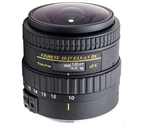 Tokina for Canon 10-17mm f/3.5-4.5 AT-X 107 AF DX NH Fisheye