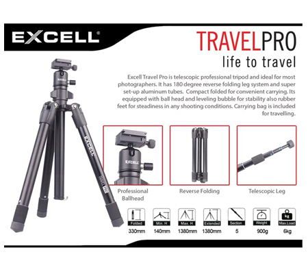 Excell Travel Pro Tripod