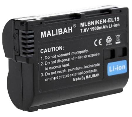 Malibah Nikon EN-EL15 Battery for Nikon 1/V1/D600/D610/D750/D800/D800E/D810A/D7000/D7100